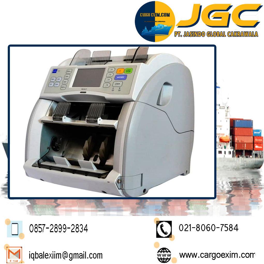 Cargo Exim bergerak di bidang Jasa Import Resmi Mesin Penghitung Uang  International untuk kepengurusan Import Mesin kepada Bea Cukai wa 0857-2899-2834