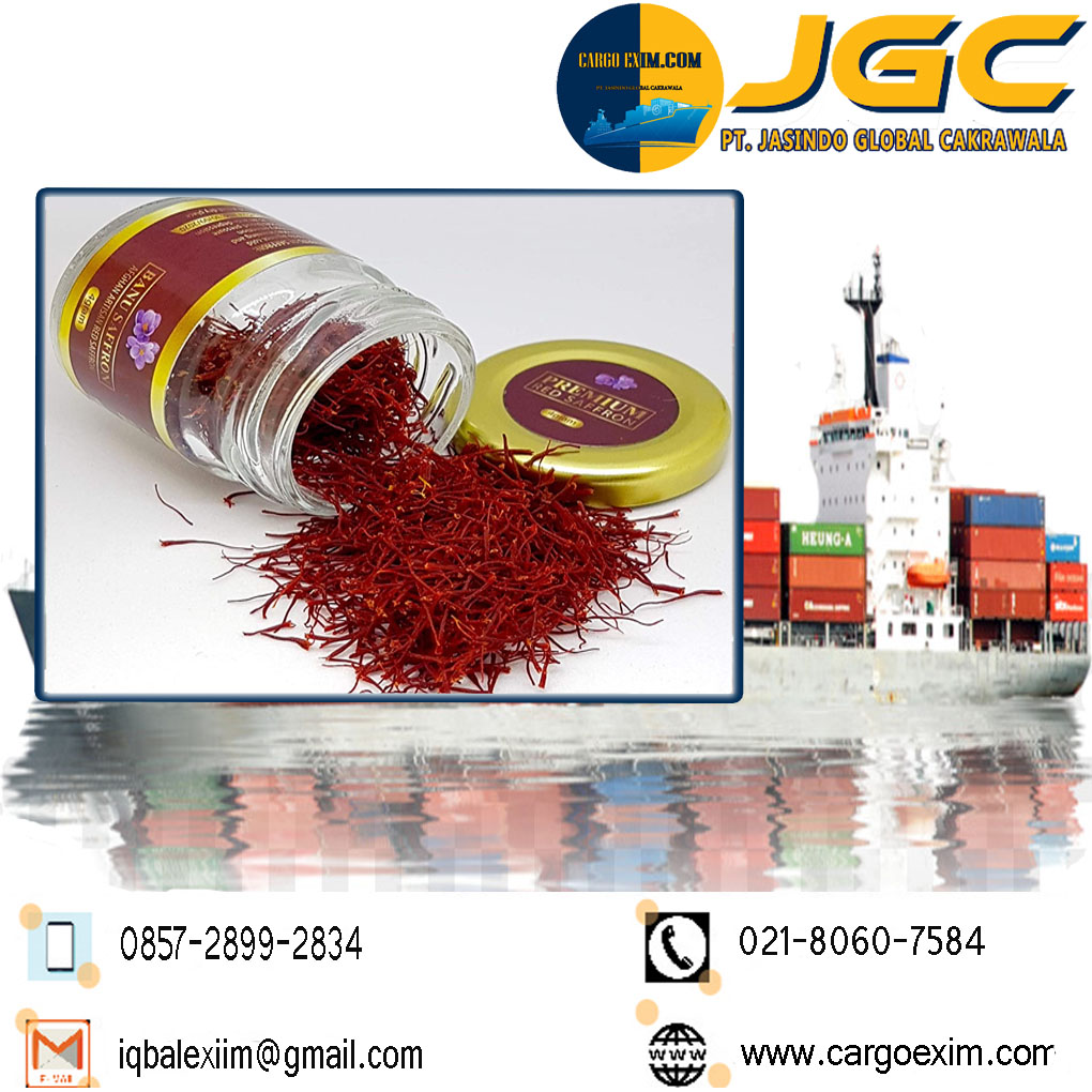 Cargo Exim bergerak di bidang Jasa Import Resmi  Pucuk Bunga Saffron International untuk kepengurusan Import Saffron kepada Bea Cukai wa 0857-2899-2834